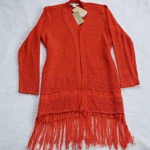 Michael Kors Fringe Knit Cardigan
